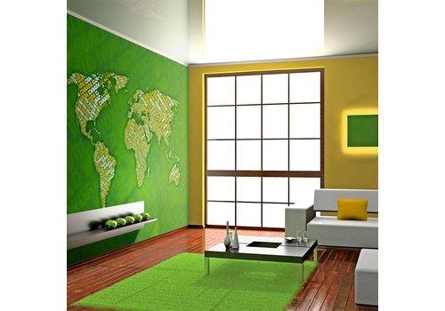 Fotobehang - Planeet Aarde , in het groen