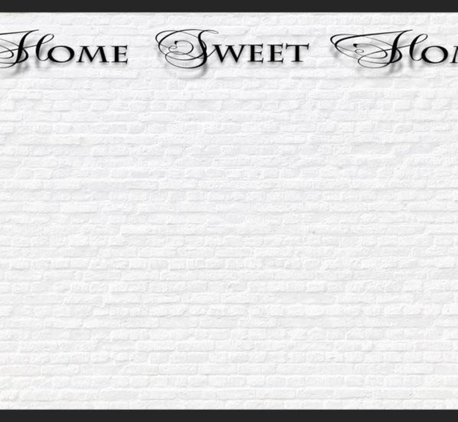 Fotobehang - Home, sweet home - witte stenen