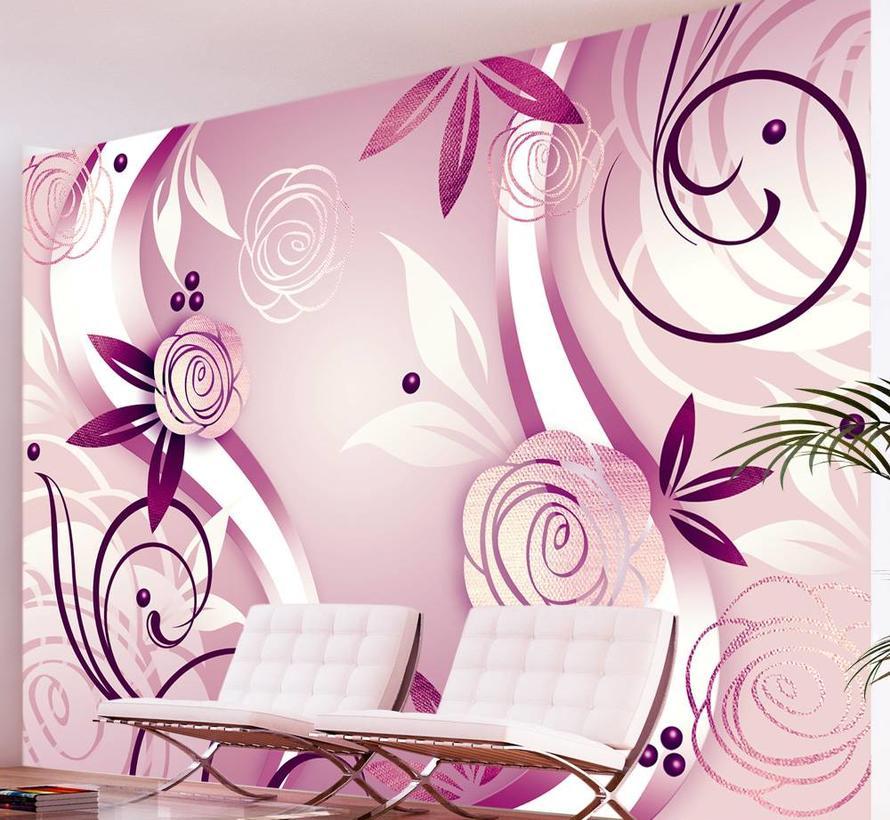 Fotobehang - Fantasie en rozen