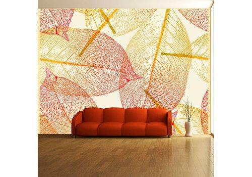 Fotobehang - Herfst bladeren patroon