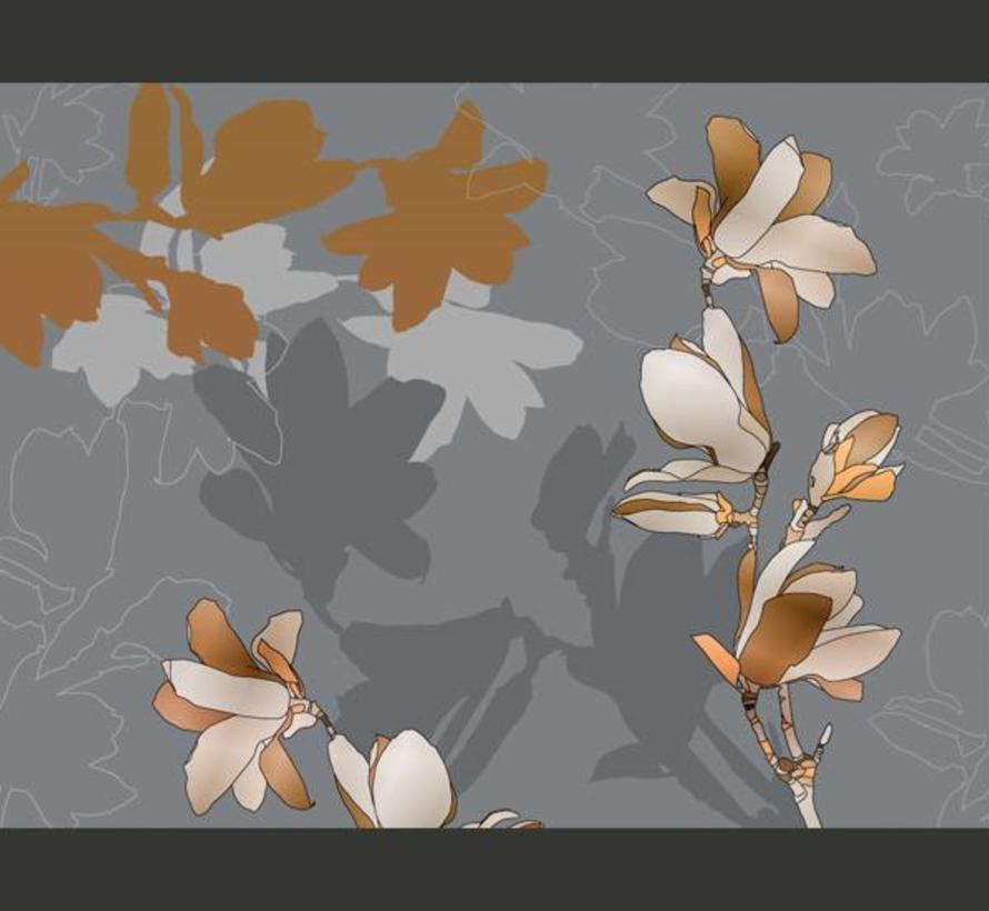 Fotobehang - Dansende schaduwen van de magnolia
