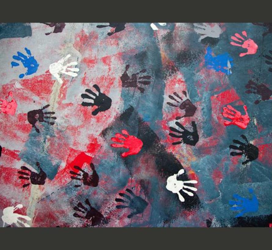 Fotobehang - handen - graffiti - street art