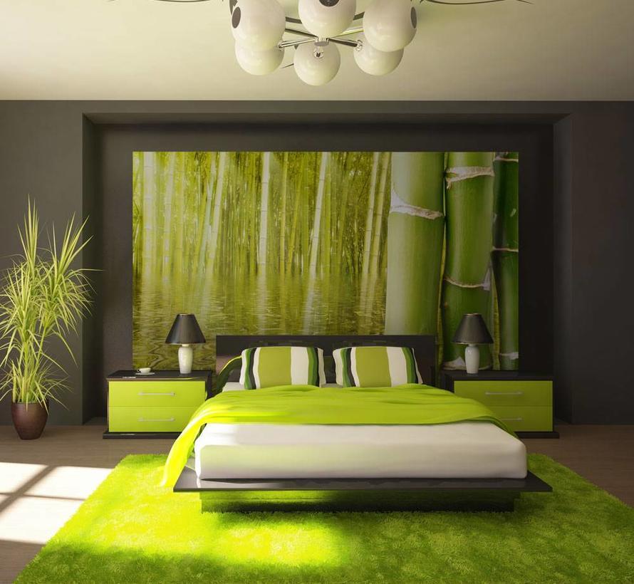 Fotobehang - Exotische sfeer met bamboe