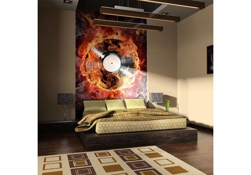 Fotobehang - Vinyl in vlammen