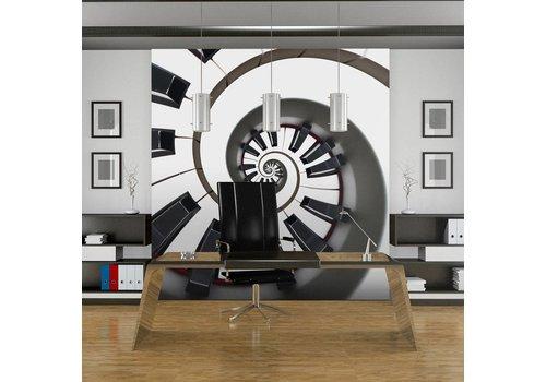 Fotobehang - Spiraal van pianotoetsen