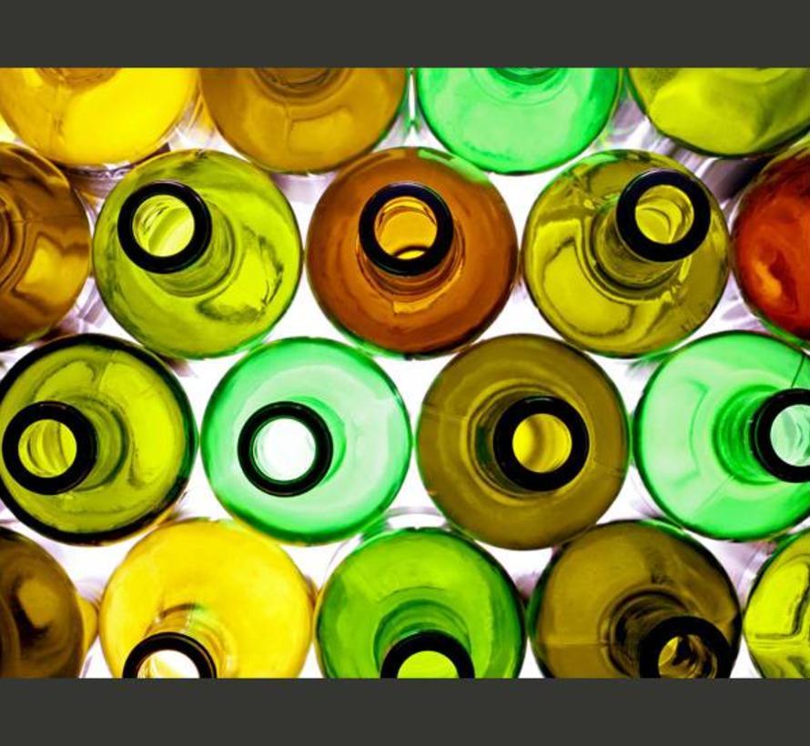 Fotobehang - Flessen (achtergrond)