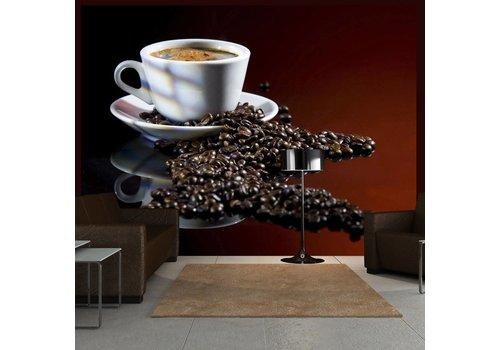 Fotobehang - kop - koffie