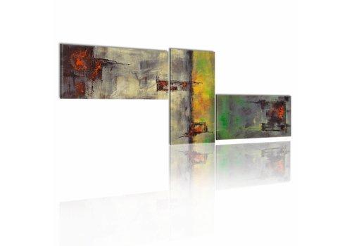 Schilderij - Zonnige abstractie