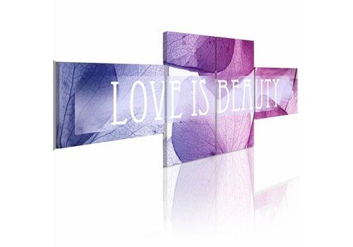 Schilderij - Love is Beauty, romantiek