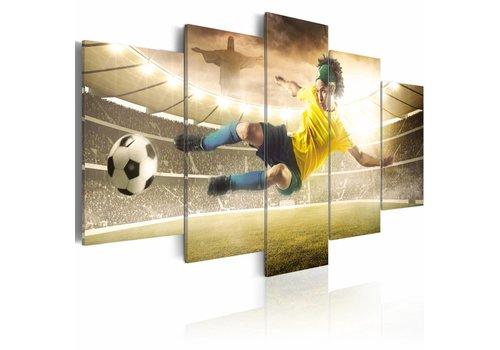 Schilderij - Essentie van voetbal