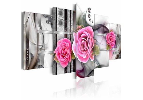 Schilderij - Fantasie en rozen