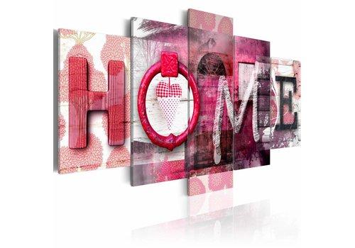 Schilderij - Veilige have, home