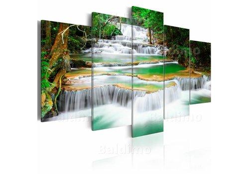 Schilderij - Waterval in Kanchanaburi, Thailand