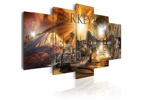 Schilderij - Prachtig Turkije