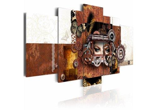 Schilderij - Mechanische vrouw
