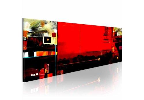 Schilderij - Kinetica 120x40cm