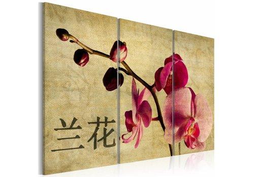 Schilderij - Orchidee en Orient