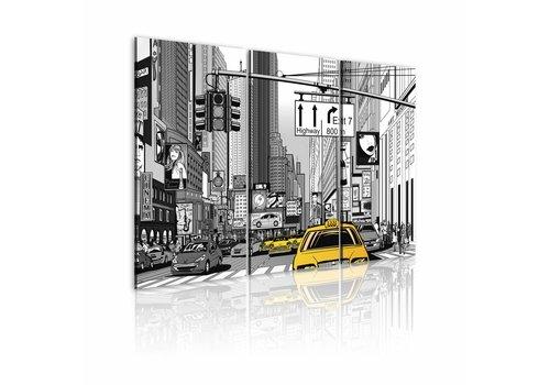 Schilderij - Schets van New York