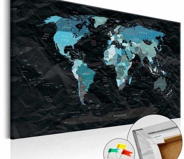 Afbeelding op kurk - Zwarte Oceaan, wereldkaart