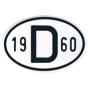 D-Schild Alu 1960