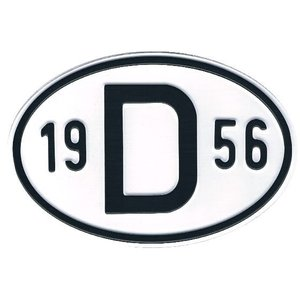 D-Schild Alu 1956