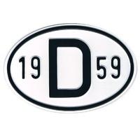 D-Schild Alu 1959