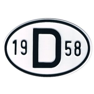 D-Schild Alu 1958