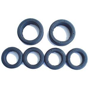 Rubberen ringen achterwielophanging