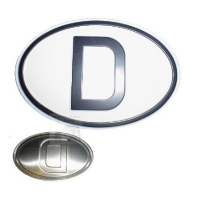 D-Schild Alu