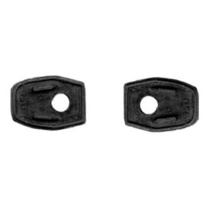 Rubber pad tailgate handle