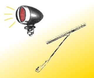 Verlichting, ruitenwissers