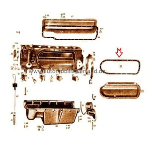 Pakking deksel linker M180