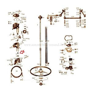 Coussinet cylindrique boîtier de direction