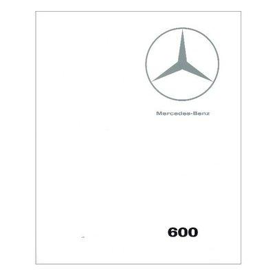 Verkaufskatalog Mercedes 600