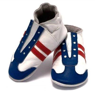 Baby Dutch babyslofjes jogger rood wit blauw