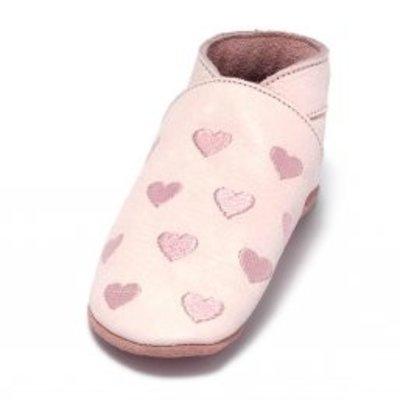 Baby Dutch babyslofjes roze hartjes