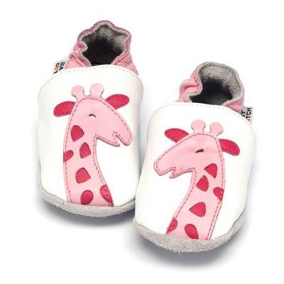 Baby Dutch babyslofjes giraf roze