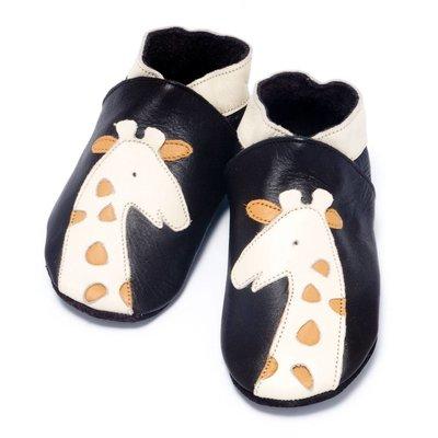 Baby Dutch babyslofjes giraffe bruin