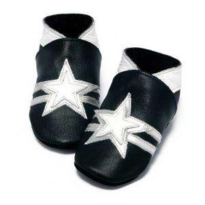 Baby Dutch babyslofjes zwart met ster