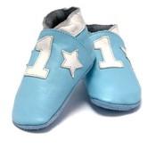 Baby Dutch babyslofjes Nr 1 lichtblauw