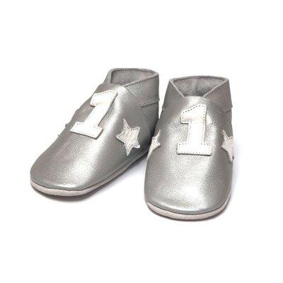 Baby Dutch babyslofjes Nr 1 zilver
