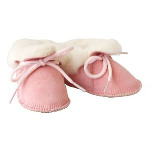 Baby Dutch wollige winterslofjes roze