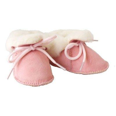 Baby Dutch wollige winterslofjes roze