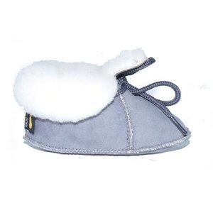 Baby Dutch wollige winterslofjes grijs