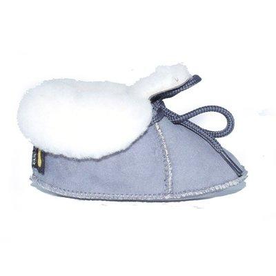 Baby Dutch wollige winterslofjes grijs