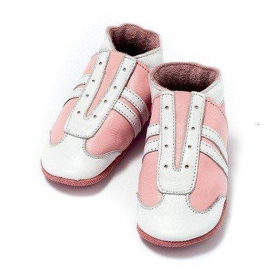 Baby Dutch babyslofjes jogger roze wit