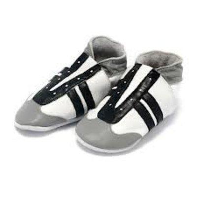 Baby Dutch babyslofjes jogger zwart wit