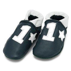Baby Dutch babyslofjes Nr 1 blauw