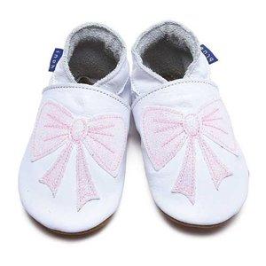Inch Blue babyslofjes bow white glitter baby pink