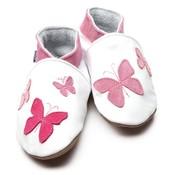 Inch Blue babyslofjes kaleidoscope white pink